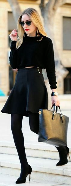 Total #Black #Look  by Personal Style