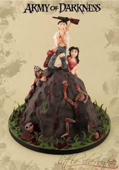 Army of Darkness geek cake Evil Dead with Bruce Campbell