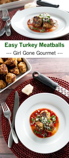 Quick and easy 30 minute turkey meatballs! | girlgonegourmet.com