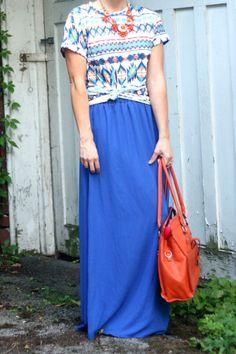 Blue #maxiskirt