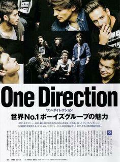 "1D Updates & News @1DRockMeUpdates  NEW | The boys on a Japanese magazine called ""Nikkei"" - February 2014 Edition"
