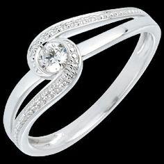 Bague de fiançailles Preciosa Solitaire diamant - diamant 0.12 carat 590 € (-40%)