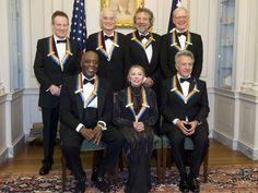 The 2012 Kennedy Center Honorees, from left, John Paul Jones, Buddy Guy, Jimmy Page, Natalia Makarova, Robert Plant, Dustin Hoffman and David Letterman.