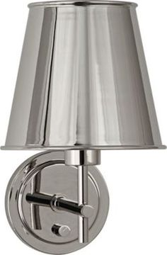 Robert Abbey Aiden Nickel 12 1/2-Inch-H Wall Sconce - #EU4Y415 - Euro Style Lighting