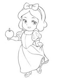 Image result for baby disney princess coloring pages