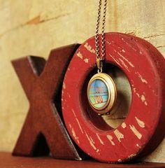 I Love You  Photo Locket Necklace  Anniversary by HeartworksByLori, $40.00