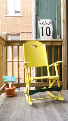 Rocking chair / Chaise à bascule  Found rocking chair repared and painted