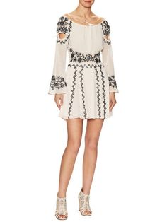 Niccola Embroidered Mini Dress  by For Love and Lemons at Gilt