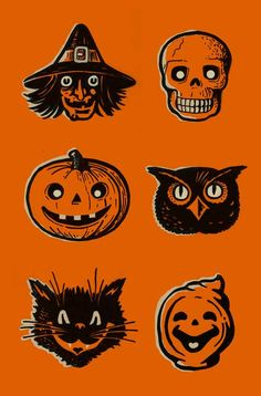 Screenprinted Halloween Poster vintage inspired by FoolsErrandInk Siebdruck Halloween Poster Vintage inspiriert von FoolsErrandInk Retro Halloween, Halloween Tags, Creepy Halloween Decorations, Halloween Party Decor, Halloween Crafts, Halloween Costumes, Vintage Halloween Images, Halloween 2019, Halloween Stuff