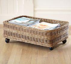 Jacquelyne Rattan Under Bed Basket At Pottery Barn Organization Baskets Diy Storage Under Bed, Ikea Storage, Bedroom Storage, Storage Baskets, Storage Spaces, Shoe Storage, Kitchen Storage, Rolling Storage, Smart Storage
