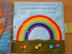 Belle Cherie Handmade: Quiet Book Revisited - has some good instructions on how to construct the rainbow
