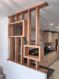 Living Room Partition Design, Room Partition Designs, Wood Partition, Kitchen Cupboard Designs, Kitchen Room Design, Home Room Design, Modern Home Interior Design, Contemporary Kitchen Design, Parallel Kitchen Design