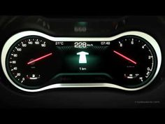 Car instrument cluster for premium dashboard