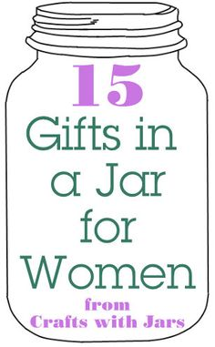 Get all of your crafts with jars in one place. Mason jars crafts, recycled jar crafts, plus many more crafts with jars. Mason Jars, Mason Jar Gifts, Bottles And Jars, Gift Jars, Craft Gifts, Diy Gifts, Party Gifts, Gifts For Older Women, Recycled Jars