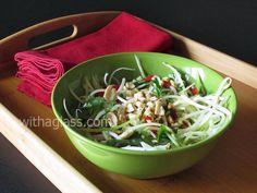 Vietnamese Green Papaya Salad | With a Glass