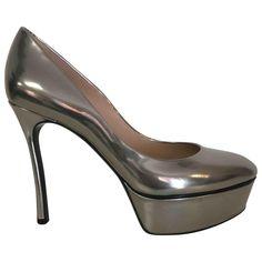 1a20bf31199b6a Casadei Pumps aus Leder - Silber - Größe 36 - 7019736