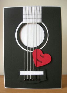 """And now for something a little bit different! I made some """"music themed """" cards for this month's Cardmaking and Papercraft magaz. Love Cards, Diy Cards, Tarjetas Diy, Cardmaking And Papercraft, Masculine Cards, Valentine Day Cards, Valentine Cards, Creative Cards, Scrapbook Cards"""