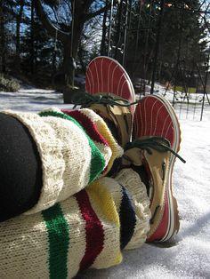 Ravelry: Matildaz's Hudson's Bay leg warmers                                                                                                                                                                                 More