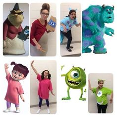 Monsters Inc Group Costumes. Group HalloweenDisney HalloweenHalloween Costume IdeasHalloween 2016Group CostumesCharacter ...