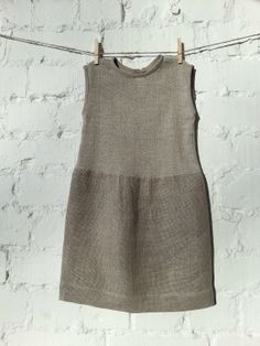 Natural wool and linen dress for girls by NYTYS on Etsy