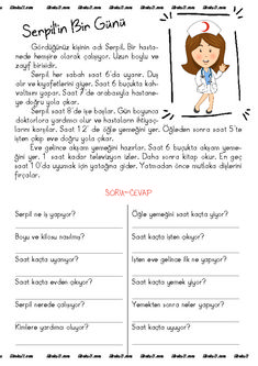 thumbnail of Serpil in bir günü dik temel Turkish Lessons, Learn Turkish Language, Learning Arabic, Primary School, Kids Education, Child Development, Comprehension, Homeschool, Drama