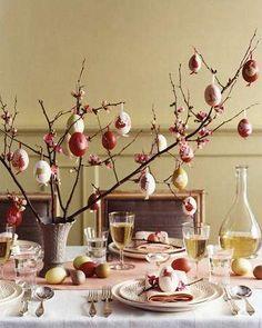 Alberi di Pasqua - Decorazioni per la tavola di Pasqua Easter trees - Easter table decorations