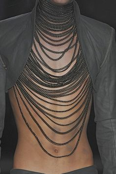 body chain/metal bralette