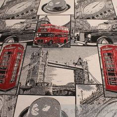 Baumwolle / Polyester Jacquard London Muster Apart & ausgefallen