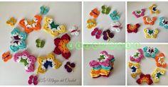 Las Mariposas son un simbolo de delicadeza y elegancia, dependiendo del material que usemos podemos darle diferentes usos, desde broches, h... Crochet Stitches Patterns, Stitch Patterns, Easy Granny Square, Plastic Canvas Crafts, Adult Crafts, Free Crochet, Free Pattern, Crochet Necklace, Projects To Try