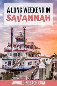 Planning a long weekend in Savannah? Savannah, Georgia is a charming southern city full of fun things to do and delicious food! Discover the best itinerary for how to spend 3 days in Savannah! Things to do in Savannah / Where to Eat in Savannah / Savannah, Georgia Itinerary / 3 Day Savannah Itinerary / Where to Stay in Savannah / Savannah Itinerary / Savannah Georgia Vacation / Getaway in Savannah Georgia