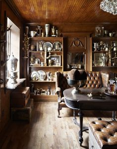 Dusty, old #trophy room. Old and authentic rooms of beauty like this one seem to be sorely lacking in our modern world.