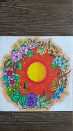 Johanna basford magical  jungle  colored by me 6/10/17