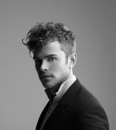 mens short back and sides long on top curly hair - Google Search