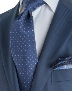Belvest | Navy Tonal Herringbone Stripe Suit | Apparel | Men's