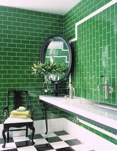 Black white & green