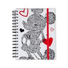 ''LOVE'' Mickey Mouse Journal | Home & Decor | Disney Store (3.759 KWD) ❤ liked on Polyvore featuring home, home decor, stationery, accessories, disney, school, school supplies and other