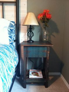 DIY Bedside Tables for a Modern Farmhouse Bedroom
