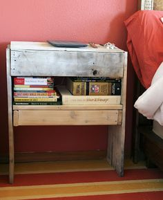 Whimsy & Life: Pallet Bedside Table