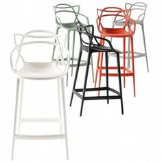 tabouret haut de bar interieur extérieur Masters Stool Design Philippe Starck par Kartell - La Verriere