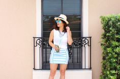 Style Link Miami Baby Blue Striped Mini featured on Sugar Love Chic by Krista Perez