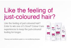 Follow the conversation on Twitter, Facebook and Instagram #keepthecolour Conditioning Shampoo, Shampoo And Conditioner, Coloured Hair, Dream Hair, Conversation, Hair Care, App, Facebook, Feelings