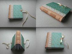 http://www.ardeas.sk/ Original book / handmade / bookbinding / leather & paper / long stitch / romantic look