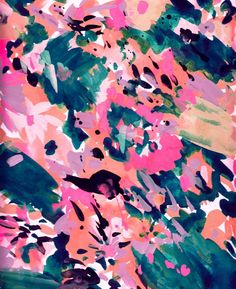 Abstract Painted Florals | surface pattern design | textile design