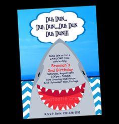 Free Printable Shark Party Invitations
