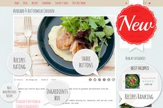 Food Blog WordPress Theme by Theme Bullet on Creative Market
