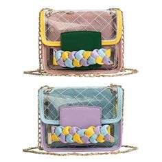 Cute Pineapple And Colorful Geometric Line Super Cute Design Small Canvas Messenger Bags Shoulder Bag Round Crossbody Bags Purses for Little Girls Gifts