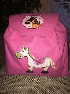 """Kinderrucksack Pferd """"HotteHü"""" von siebenbruecki auf DaWanda.com"""