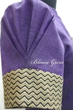 blouse designs Perfect sleeves design Another idea for a wedding favor for a wedding during the wint Simple Blouse Designs, Saree Blouse Neck Designs, Stylish Blouse Design, Saree Blouse Patterns, Dress Neck Designs, Sleeves Designs For Dresses, Kurti Sleeves Design, Sleeve Designs, Sari Design