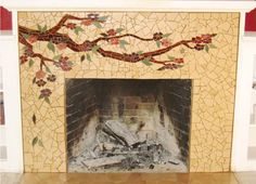 3 Fantastic Ideas Can Change Your Life: Fireplace Kitchen How To Build traditional fireplace hearth.Fixer Upper Fireplace Plank Walls fireplace with tv above hearth.Fireplace Built Ins Rustic. Mosaic Fireplace, Fireplace Beam, Candles In Fireplace, Paint Fireplace, Fireplace Mirror, Marble Fireplaces, Fireplace Design, Fireplace Decorations, Craftsman Fireplace