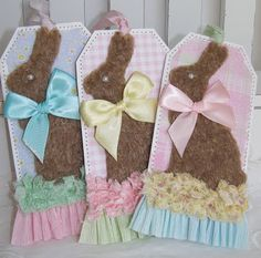 Chocolate Easter Bunny Tags